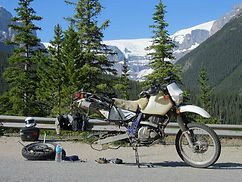 Los Angeles Psychic Medium Brett Carstens on a solo motorcycle ride through the Glacier Parkway in British Columbia and Alberta