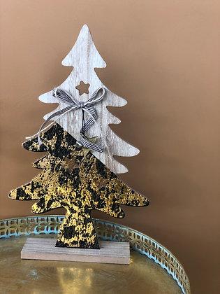 Kerstboom zwart/goud