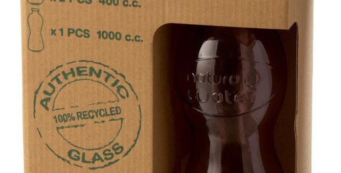 Doos met fles + 2 glazen (ZALM)