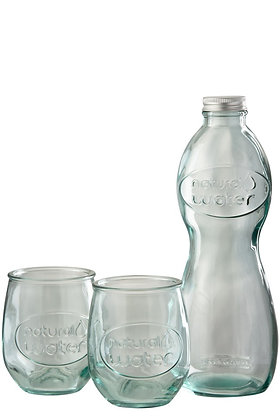 Doos Fles + 2glazen Natural Water Glas