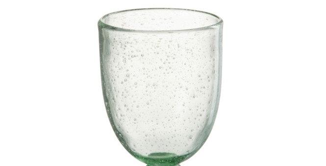 Drinkglas Op Voet / Groen Glas