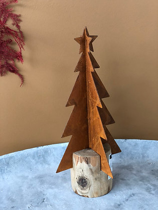 Kerstboom roest/hout (M)