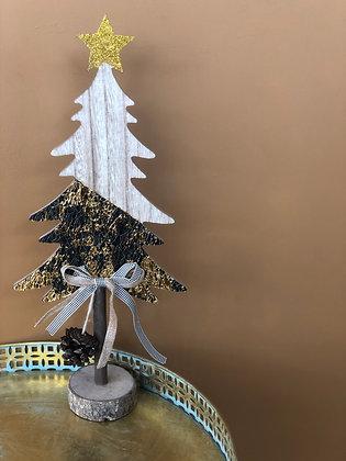 Kopie van Kerstboom zwart/goud