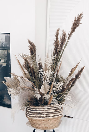 Boho bloemen mand M > niet via verzending