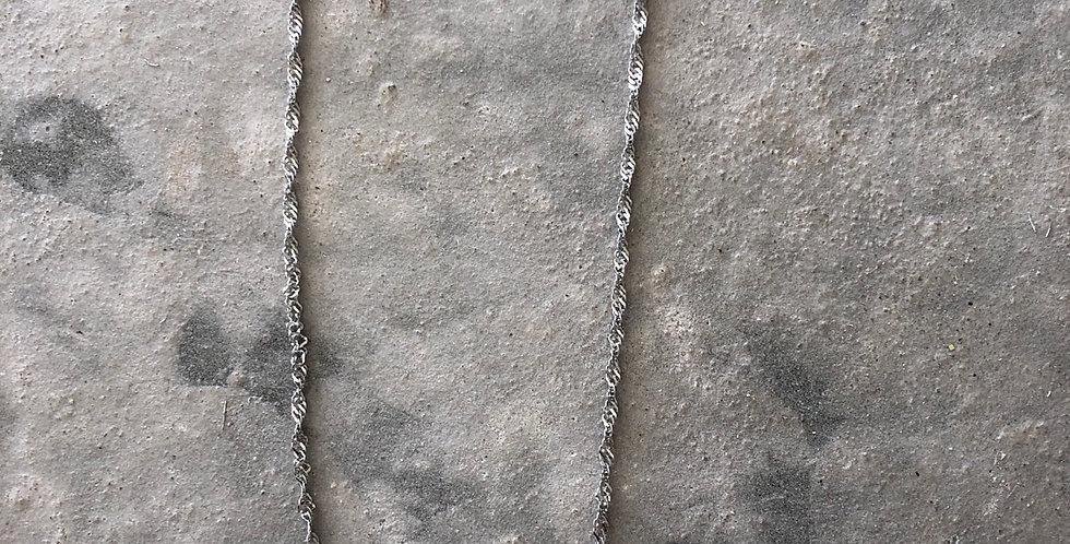 Ketting basic, zilver