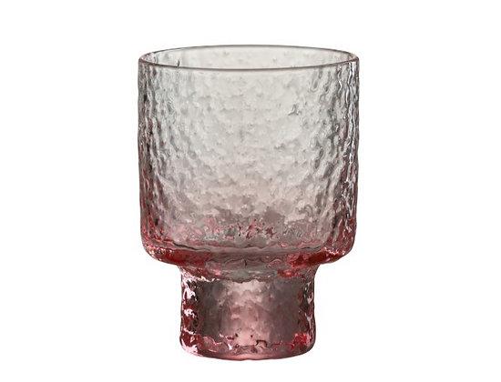 Oneffen drinkglas roze