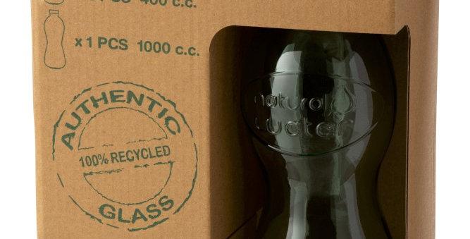 Doos met fles + 2 glazen (GROEN)