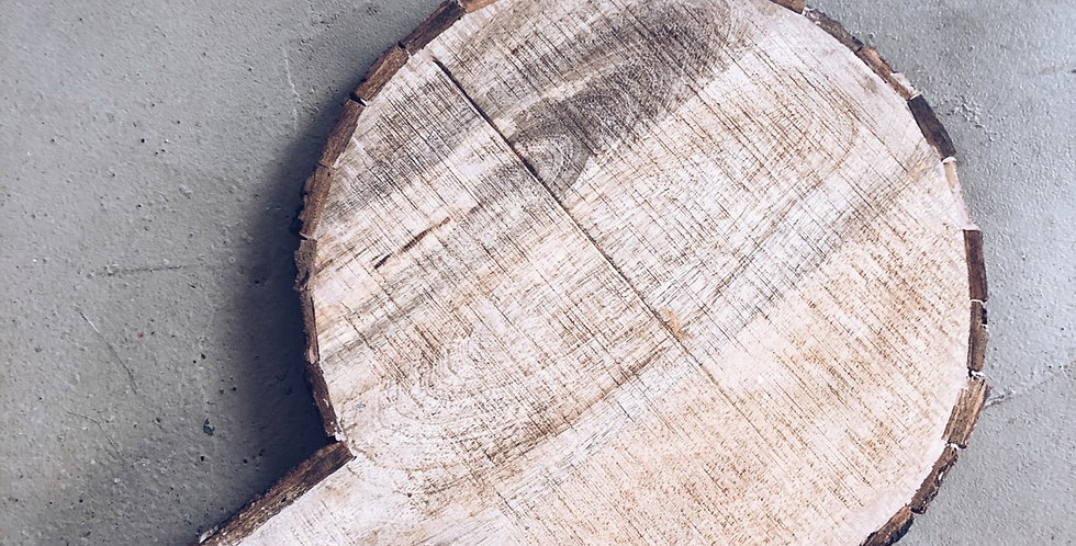 Snijplank rond hout