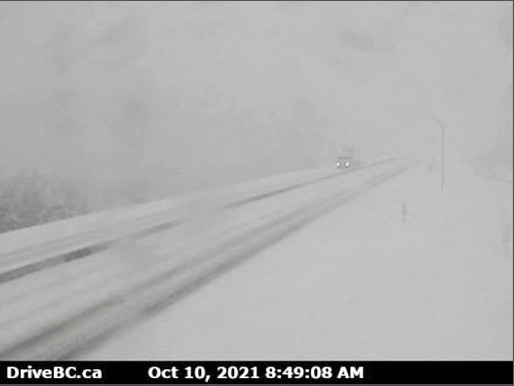 Drive BC Reports Snow Covering Southern BC Roads