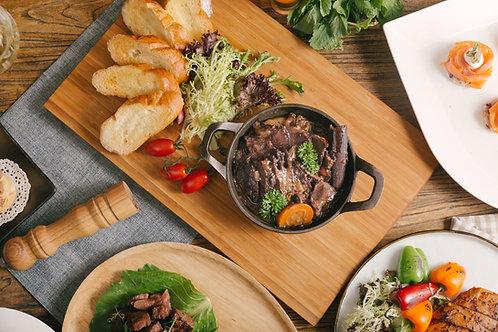 慢煮澳洲牛面頰肉配牛油法包
