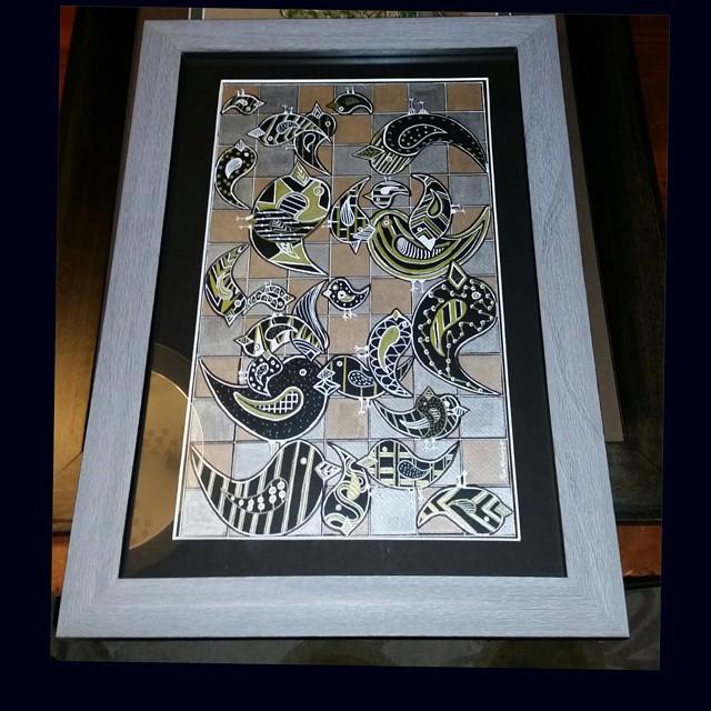 My art #framed #instapaint #instapainting #doodle #art #artist #artfido #artwork #design #draw #draw