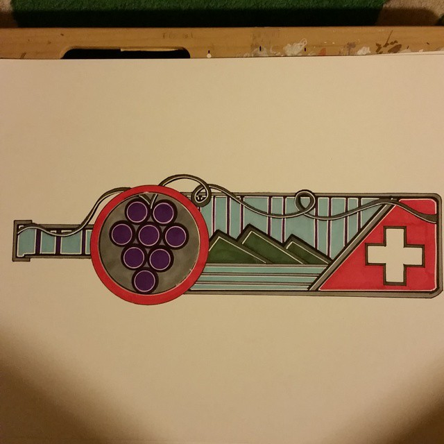 Probably not a contender but fun_#grapes #art #artist #artwork #design #draw #swiss #drawing #ink #i