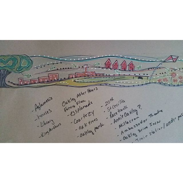 Original design concept for #oakleykroger #mural _The new oakley kroger with the mural I designed