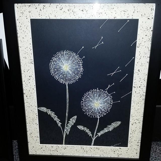 A custom piece I did #dandelion  #instapaint #instapainting #nature #wild #doodle #art #artist #artf