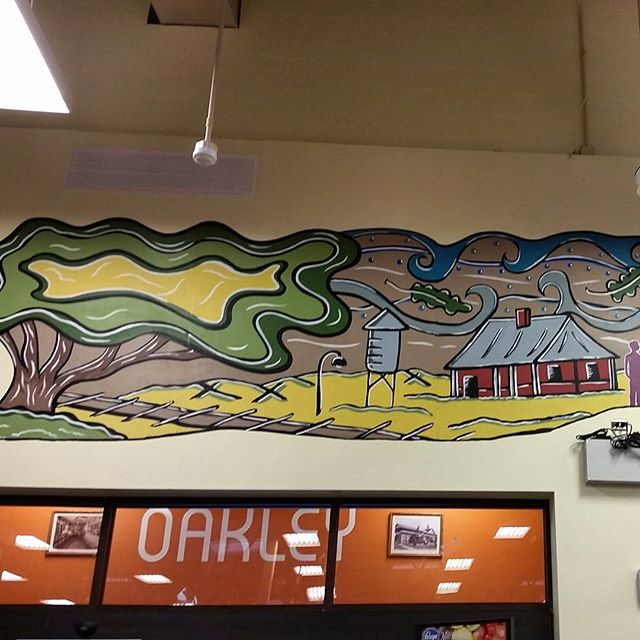 The new oakley kroger with the mural I designed