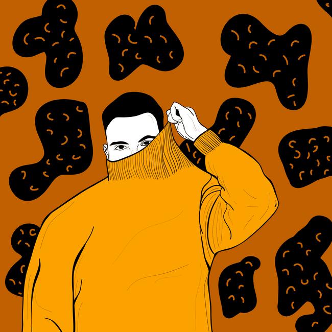 orange sweater ii.