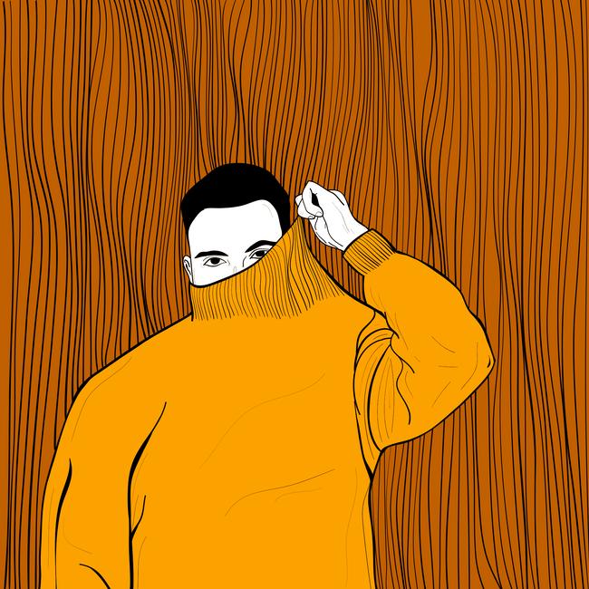 orange sweater i.