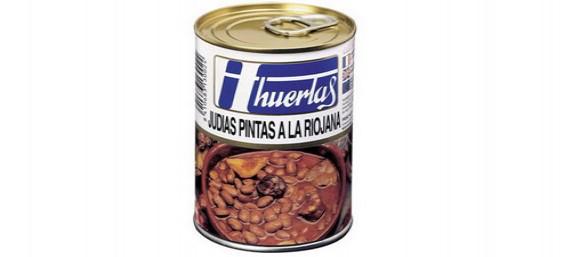 JUDIAS PINTAS A LA RIOJANA - LATA DE 1/2 KG.