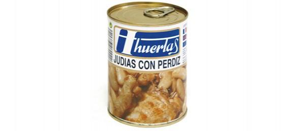 JUDIAS CON PERDÍZ - LATA DE 1/2 KG.