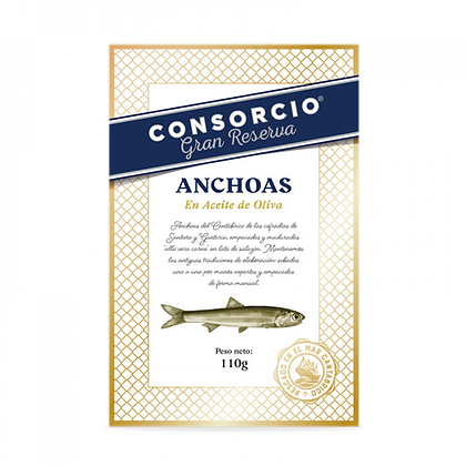 ANCHOAS DEL CANTÁBRICO EN ACEITE DE OLIVA 14/16 FILETES - RR120