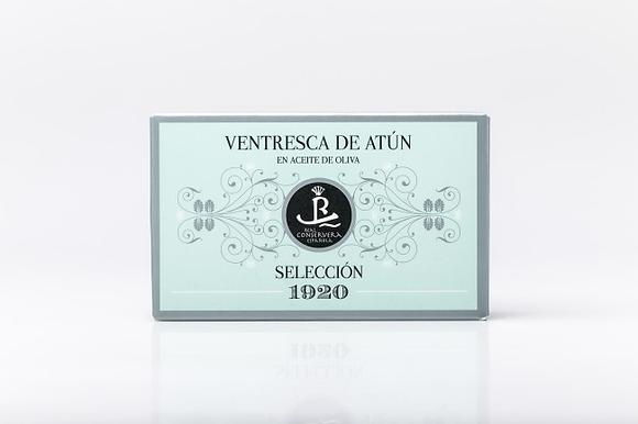 """VENTRESCA DE ATÚN EN ACEITE DE OLIVA """"SELECCIÓN 1920"""" - OL-120"""