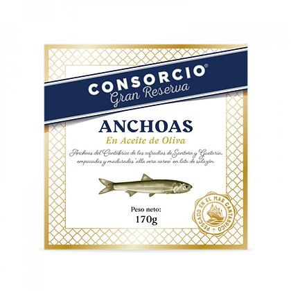 ANCHOAS DEL CANTÁBRICO EN ACEITE DE OLIVA 30/32 FILETES - RO170