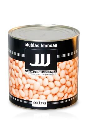 ALUBIAS BLANCAS COCIDAS LATA DE 3 KGS.