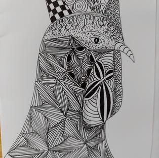 Zentangled Rooster.jpg