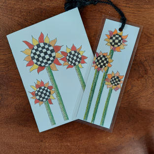 Sunflower Card and bookmark