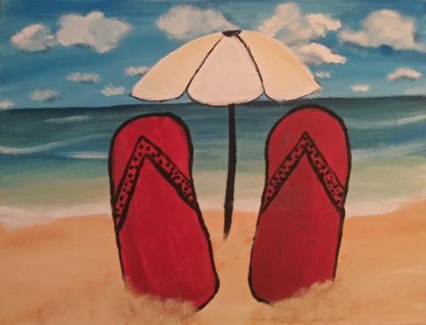 Beach Vibes Flip Flops