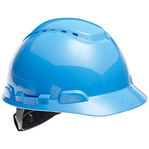 3M™ H703V 藍色通風工程安全帽 - Hard Hat Vented Blue 4-Point Ratchet Suspension