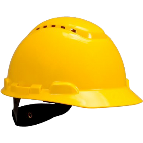 3M™ H702V 黃色通風工程安全帽 - Hard Hat Vented Yellow 4-Point Ratchet Suspension