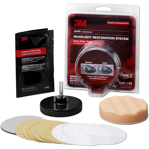 3M™ PN39008 車燈鏡面翻新套裝 - Headlight Lens Restoration System