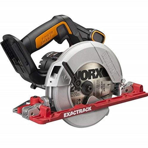 WORX 威克士 WX530.9 165MM 20V鋰電 電圓鋸(淨機) - Lithium Exactrack Circular Saw(Tool Only)