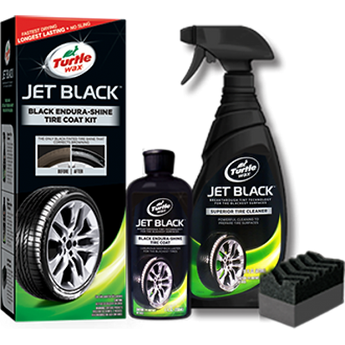 美國龜牌 T-12KT 純黑輪胎鍍膜組合 - Jet Black Endura-Shine Tire Coating Kit