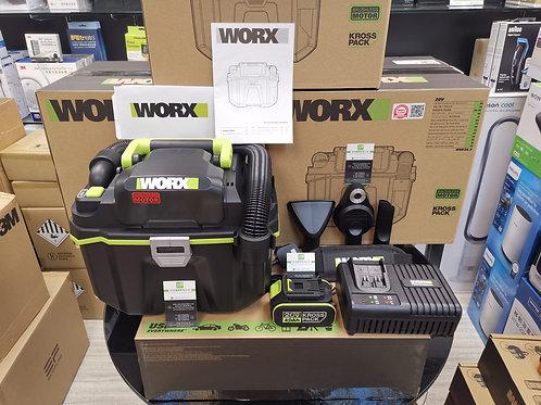 WORX 威克士 WU036.1 20V 鋰電無刷吸/吹塵/水機(乾/濕)充電套裝 - Vacuum Cleaner/Blower(Wet/Dry)