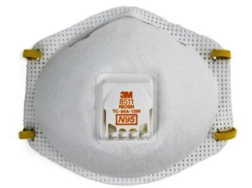 3M™ 8511 N95 非油性粉塵活門保健口罩(10個/盒) - Particulate Respirator (10PCS/BOX)