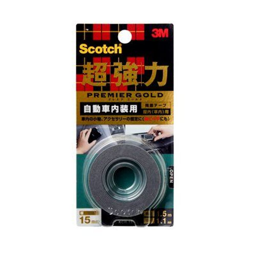3M™ 思高® KCR-15 金裝超強力膠帶-汽車內部用 - Premium Gold DC Tape for Vehicle (interior)