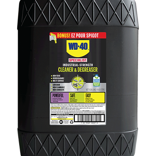 WD-40®專業系列WD 30047萬用強效清潔除油劑(5加侖)-Industrial-Strength Cleaner & Degreaser(5gal)