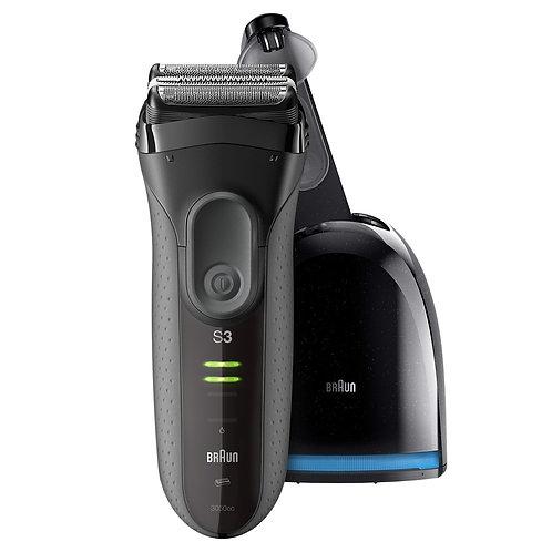 Braun Series 3 ProSkin 3050cc Shaver 可充電電鬚刨(灰色)帶有清潔充電系統