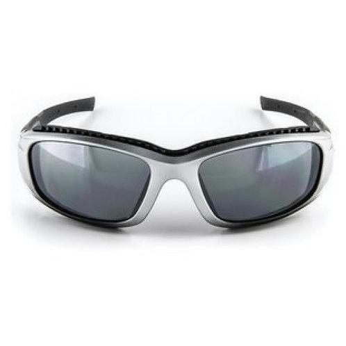 3M™SS1514AS-S安全太陽眼鏡, 銀框, 防刮鏡片,灰鏡(鏡面) - Safety Sunwear, Silver/BlackFrame