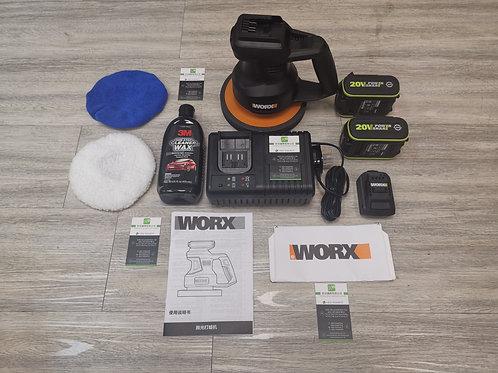 WORX 威克士 WX85820V 鋰電汽車打蠟拋光機雙電套裝- Cordless lithium wax polishing machine
