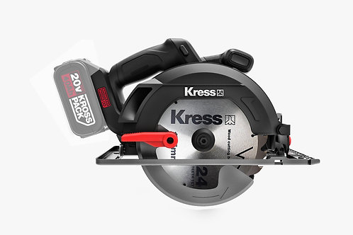 Kress 卡勝 KU520.9 20V鋰電165mm無刷電圓鋸(淨機) - 165mm Brushless lithium circular saw