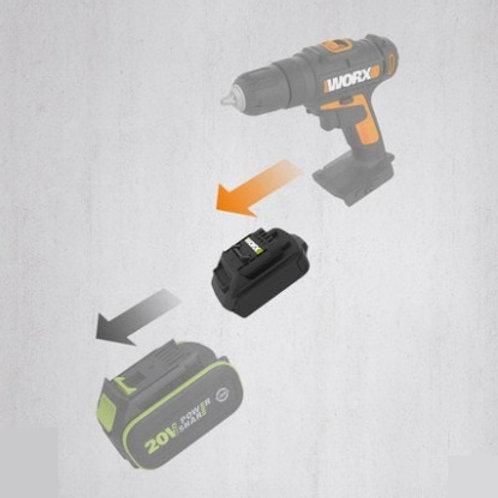 WORX 威克士 WA4600 20V鋰電池轉插器 - Lithium battery adapter