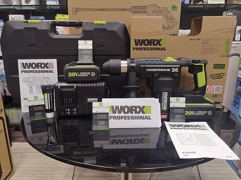 WORX 威克士 WU399 20V 26MM鋰電無碳刷油壓鑽(電錘)