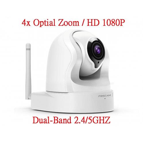 FOSCAM FI9926P網路攝影機高清1080P卡/雲端儲存 4倍光學變焦雙頻2.4/5GHZ
