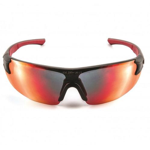 3M™ 3M SS1729AS-B 安全太陽眼鏡-紅黑框紅鏡(鏡面) - Safety Sunwear, Red BlackFrame