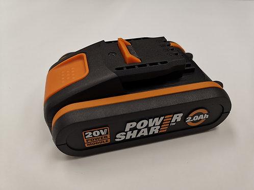WORX 威克士 WA3551.1 20V 2.0Ah 橙色鋰電池
