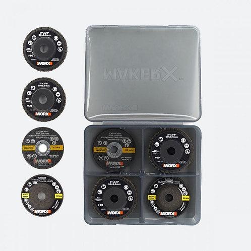 WORX 威克士 WA7213 MAKER-X 砂輪片(16件) - Angle Grinding Wheel(16pcs)