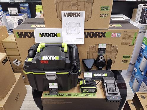 WORX 威克士 WU036.2 20V 鋰電無刷吸/吹塵/水機(乾/濕)充電套裝 - Vacuum Cleaner/Blower(Wet/Dry)